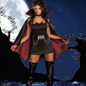 Dream Girl Sexy 4 Piece Vampire Costume size Small